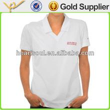 Fashion european white sized polo shirt