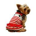 2014 nuevo perro marinero raya roja vestido de traje de mascota
