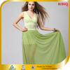 New Design V Neck Sleeveless Fancy Green Fashion Summer Dress Maxi Dress With Lace