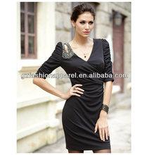 Alta calidad vestido de prom mujeres maduras con mangas largas