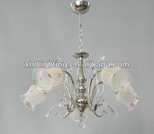 Wholesale silver chrome pendant chandelier modern lighting fixture3020-5CH