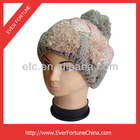 custom knitted women winter hat with ball on top crochet knitted girl winter hats ski hats with ball on top