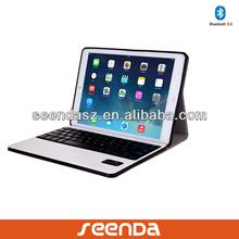 Seenda white leather keyboard folio case cover For ipad mini/air,for ipad accessories