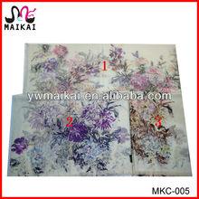 Italian fashion big size flower print cashmere scarf