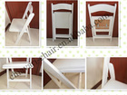 wholesale wooden white wedding folding chairs