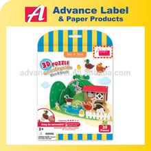 DIY Kids toy Educational toy Hen & Duck Village Animals 3d Puzzle