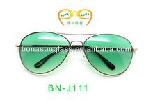 metal aviator glasses, logo printing men's sunglasses,glasses pilot