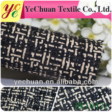 Popular acrylic and cotton checked embroidery fabric