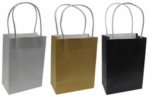 """PAPER BAG TWISTED HANDLE SQ BOTTOM 5.5"""" (LINEN ICE WHITE, ICE GALAXY GOLD, MIAMI ROYAL BLUE)"""