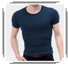 100%Wholesale fitness clothing spandex t shirt New Mens Crewneck T-Shirt