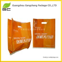 Hot sale clear plastic die cut handle bag wholesale