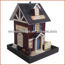 Wooden decorative bird house