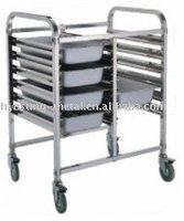 stainless steel detachable food pan racks