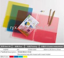 office supplies document plastic pockets a5 file folder