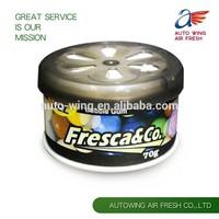 Organic scent air freshener solid car air fresheners car perfume gel air freshener gift OEM air freshener factory in China