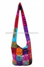 fashionable new stylish hippie shoulder bag latest nepal shoulder bags fashion eco-friendly ethnic hippie shoulder bags