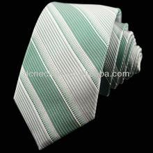 white green striped necktie