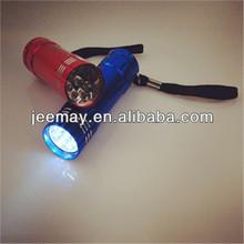 mini pocket promotional 9 led flash light
