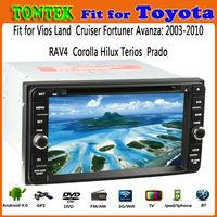 for toyota terios car radio tv dvd with GPS internet WIFI Bluetooth TV USB Radio Android OS--2 year warranty
