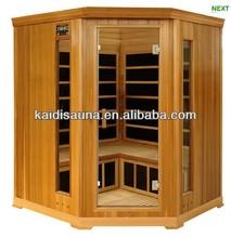 4-5 people cheapest sauna room, far infrared corner sauna room KD-W5004SC ourdoor sauna room