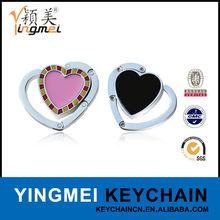 G01035-1 Customize heart shape metal foldable bag hanger hook