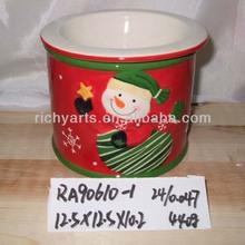 wholesale snowman shape christmas ceramic coffee mug for christmas supply