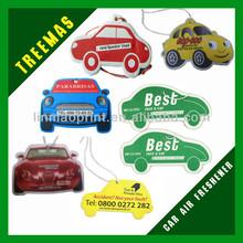 Factory direct sale hanging car mirror accessories custom printed cotton paper custom air freshener