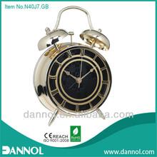 "4"" guangzhou china manufacturer Metal alarm clock/antique mini alarm clocks"