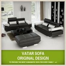 Stunning Longjian 2+2+1 Italian leather sofa VATAR D3311E