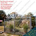 Ferro forjado portão principal/ferro forjado portas de entrada dupla/metal portão de ferro