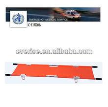 aluminum alloy 2 folding stretcher &foldable stretcher&Emergency medical equipment