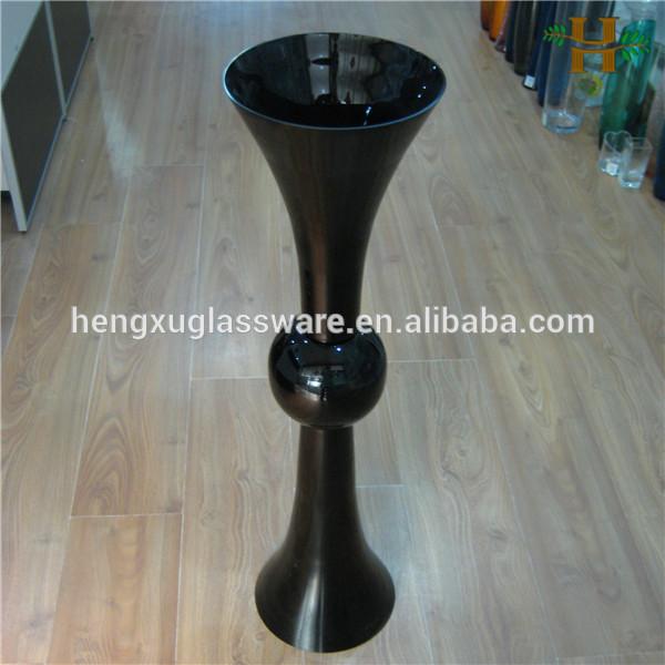 tall black wedding centerpiece glass vase   buy tall black