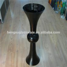 Tall Black Wedding Centerpiece Glass Vase
