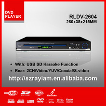 HD RMVB 260MM USB DivX cheap dvd player with CD Ripping