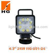 Hot sales 24w l led working light 24+3 led work light only 0.5% defective rate HG-851-24