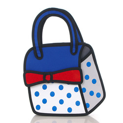 Wholesale 2d 3d Bowknot cartoon bag made in China Canton Fair fashion 3d cartoon handbag
