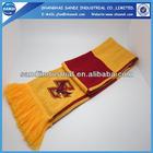 Custom football sports fan knitted scarf