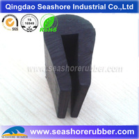 extruded U channel rubber edge protection
