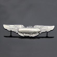 2014 High quality promotional metal 2d pilot wings pin badge