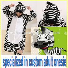 super soft cheap zebra onesie adult zebra onesie