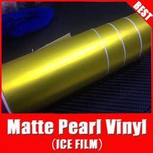 Super qualité rohs certificat tsautop 1.52*20m bulles d'air libre canal. or, mat perle de peinture de voiture