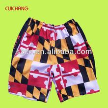 Sublimation colorful print board shorts&sublimation cycling shorts/cycling clothing,crazy board shorts