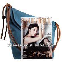 2014 Blue Canvas Cross Body Bag Canvas Shoulder Bag