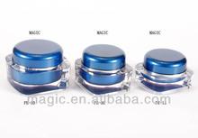 clear blue acrylic square cream jar,cosmetic jars cream,luxury cream jar