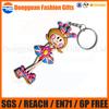 Fashion custom cute girl keychain, pvc key chain.