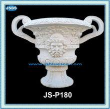 Em forma de taça mármore vaso de flores e vaso com humano