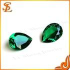 High Quality Green Pear Cut Loose Nano Gemstone