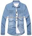 Ml1503 camisas camisas para hombres, la última de vaquero de moda camisa