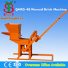 Patent Product!! QMR2-40 manual brick making machine,clay brick machine for sale