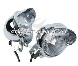 Chrome Passing Fog Headlight For Harley Davidson Road King Custom Classic